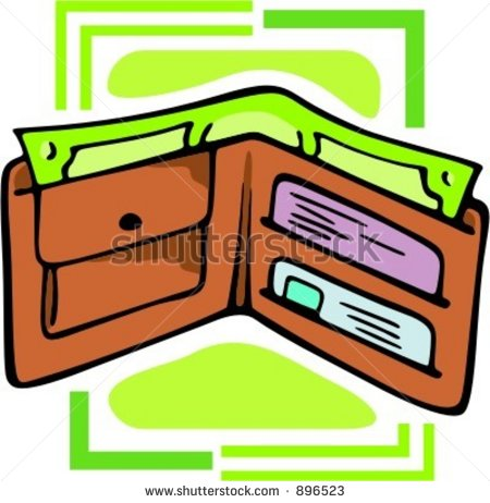 Leather Wallet With Cards And Money Vector Illustration   Stock Vector