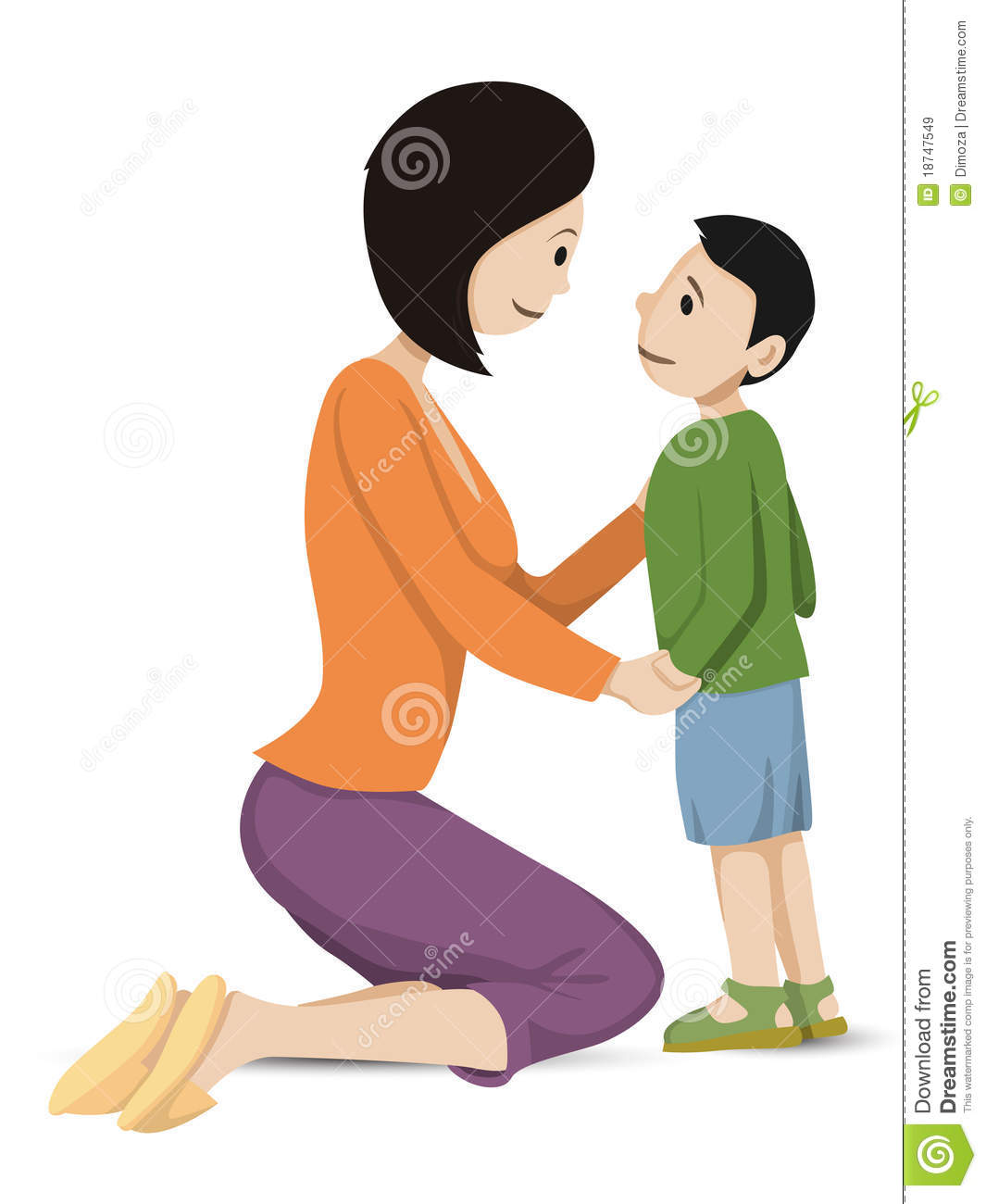 Mom And Son Talking Clipart - Clipart Kid