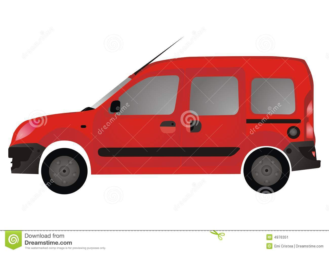 Red Van Autovehicle  Car  Stock Image   Image  4976351