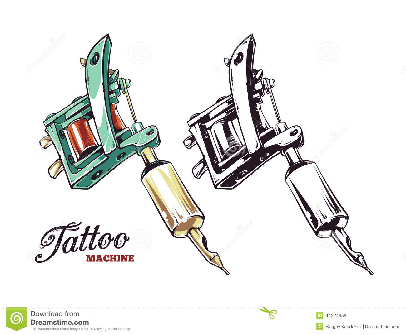 Tattoo Machine Vector Stock Vector   Image  44224956