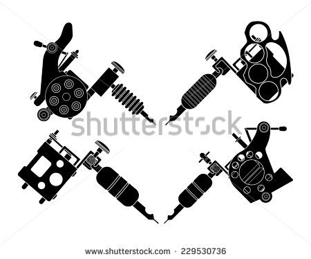 Tattoo Machines Icons  Revolver Tattoo Machine Knuckle Duster Tattoo