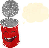 Tin Can Clip Art Vector Graphics  1043 Tin Can Eps Clipart Vector And