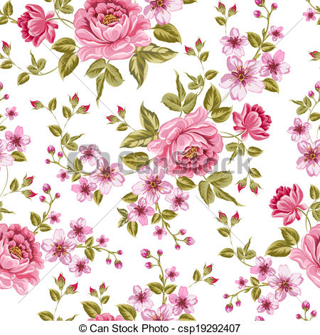 Vector   Luxurious Color Peony Pattern    Stock Illustration Royalty