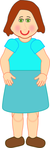 Woman Standing Clip Art At Clker Com   Vector Clip Art Online Royalty