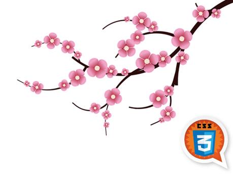 Free Clip Cherry Blossom Artwork