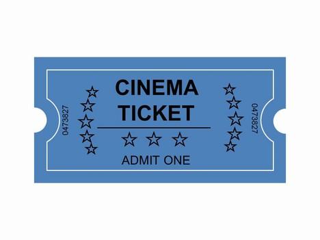 Cinema Tickets Clip Art Powerpoint Template Slide2
