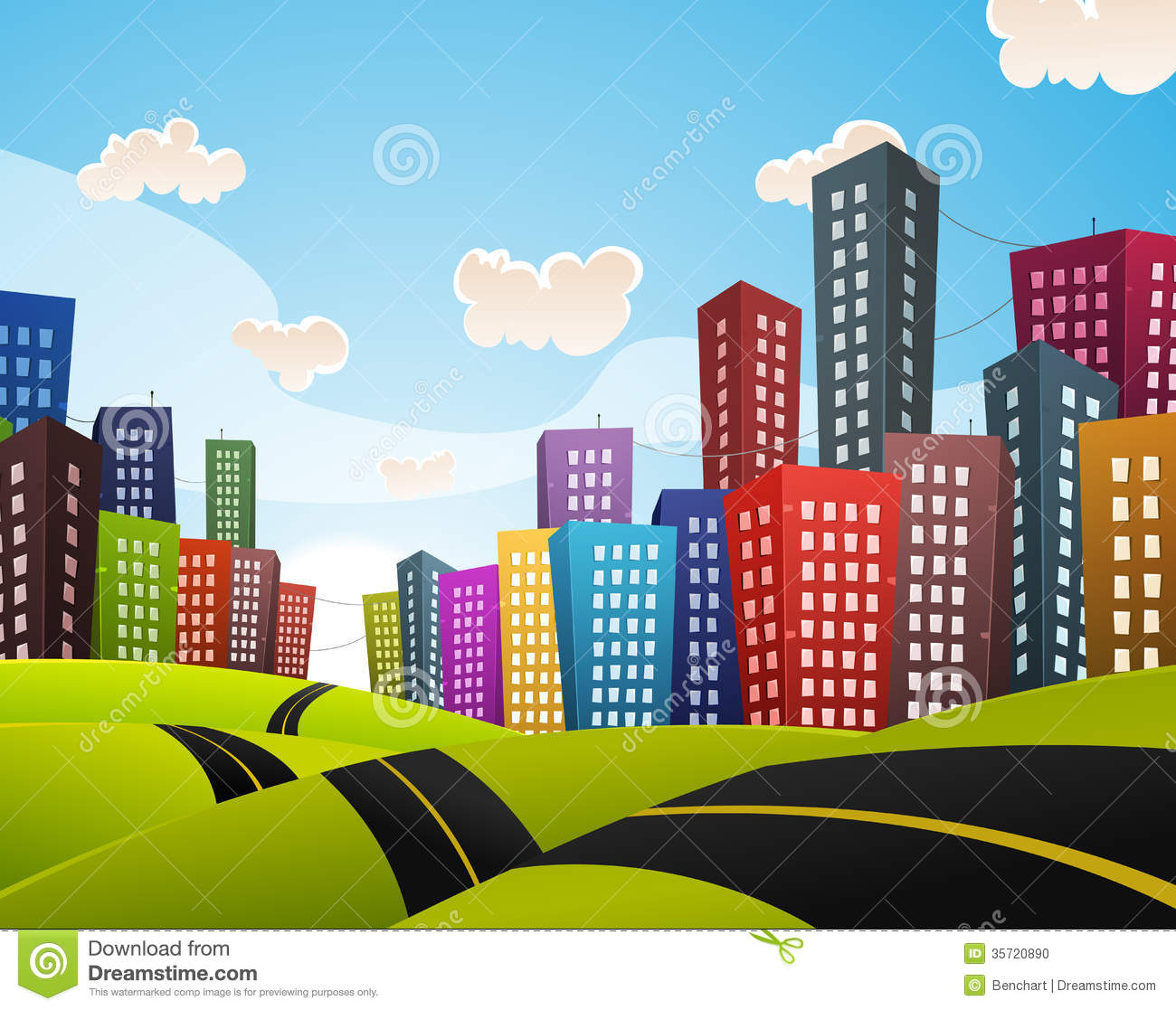 City Landscape Clipart - Clipart Suggest
