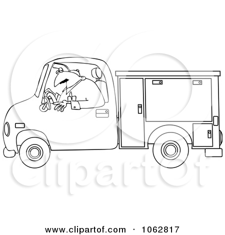 Rf  Clipart Illustration Of A Retro Black And White Bucket Utility