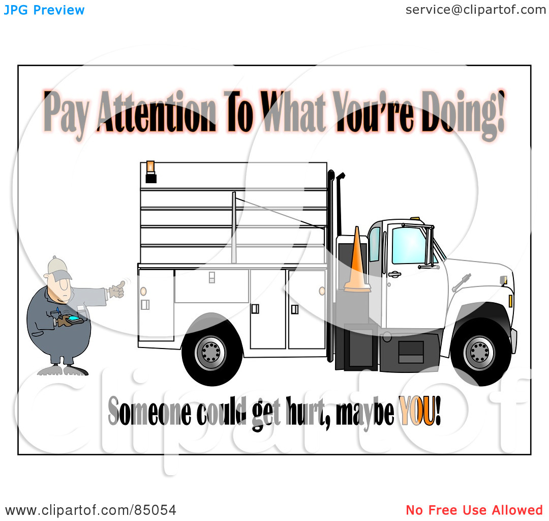 Royalty Free  Rf  Clipart Illustration Of A Distracted Worker Man Text