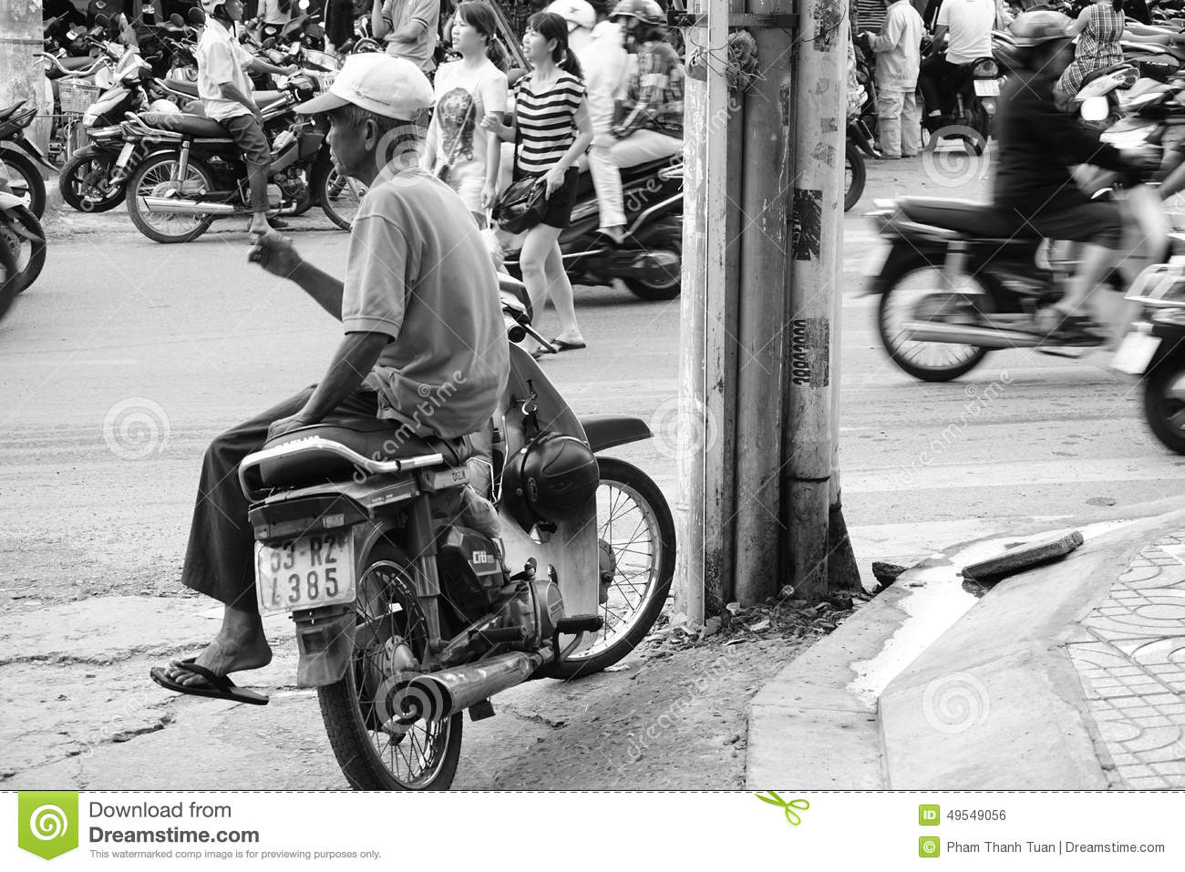 Vietnamese Man Taxi Motorbike Driver Editorial Photo   Image