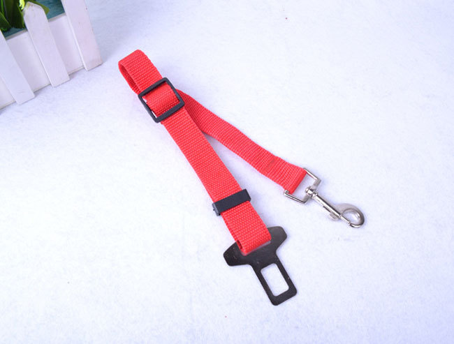 Adjustable Pet Cat Dog Safety Leads Car Seat Belt Harness Clip
