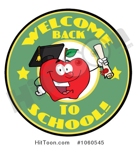 Back To School Circle And Student Apple Holding A Diploma   1  1060545