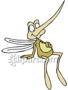 Cartoon Mosquito With A Full Belly Royalty Free Clipart Picture
