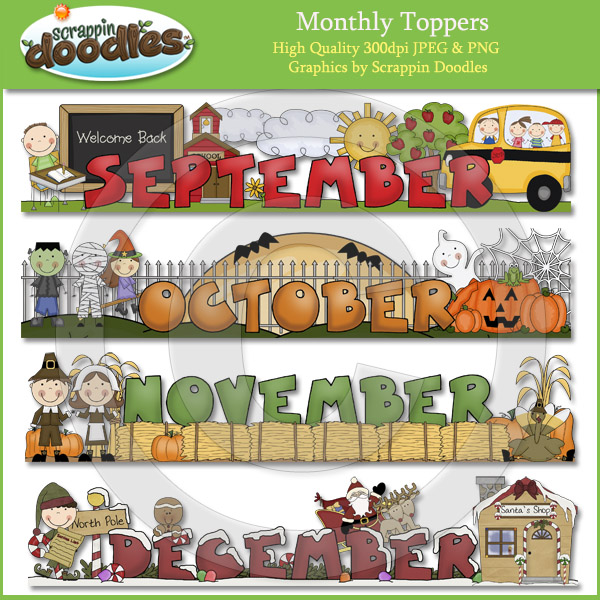 December Download    5 50   Scrappin Doodles Creative Clip Art