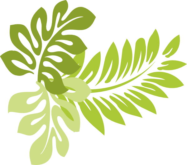 Tropical Leaves Clipart - Clipart Kid