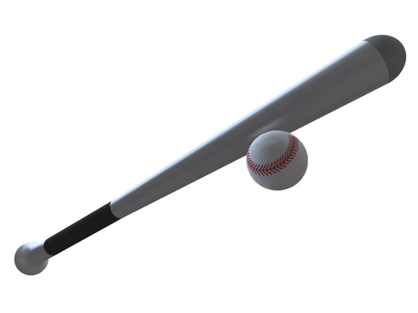 Picture Baseball Bat And Ball