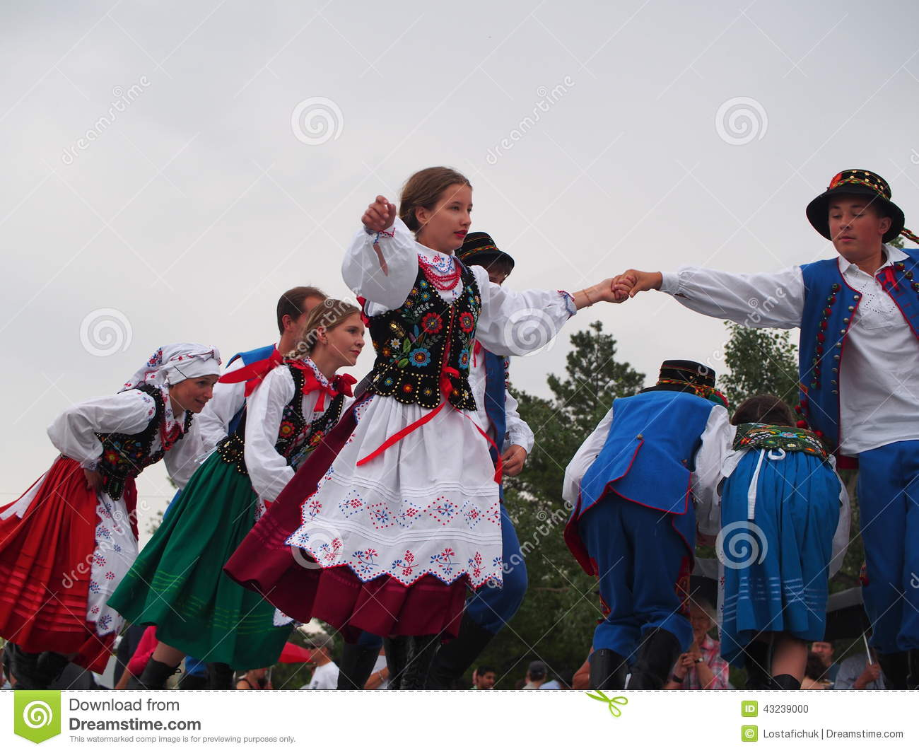 Polish Dancers At Edmonton Alberta Heritage Day Celebration August 4