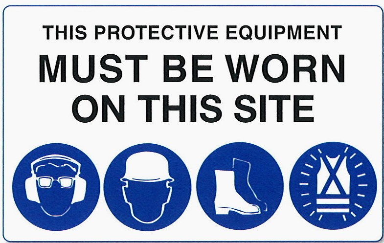 Safety Harness Ppe Mandatory Signs