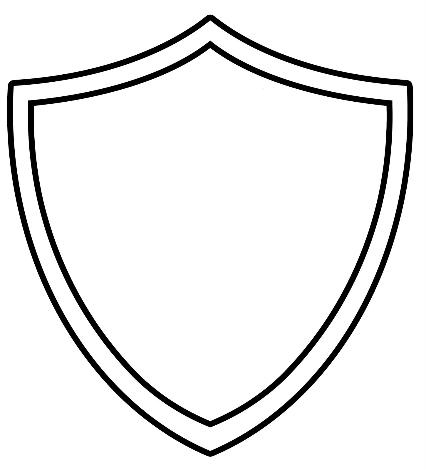 Shield Outline   Clipart Best
