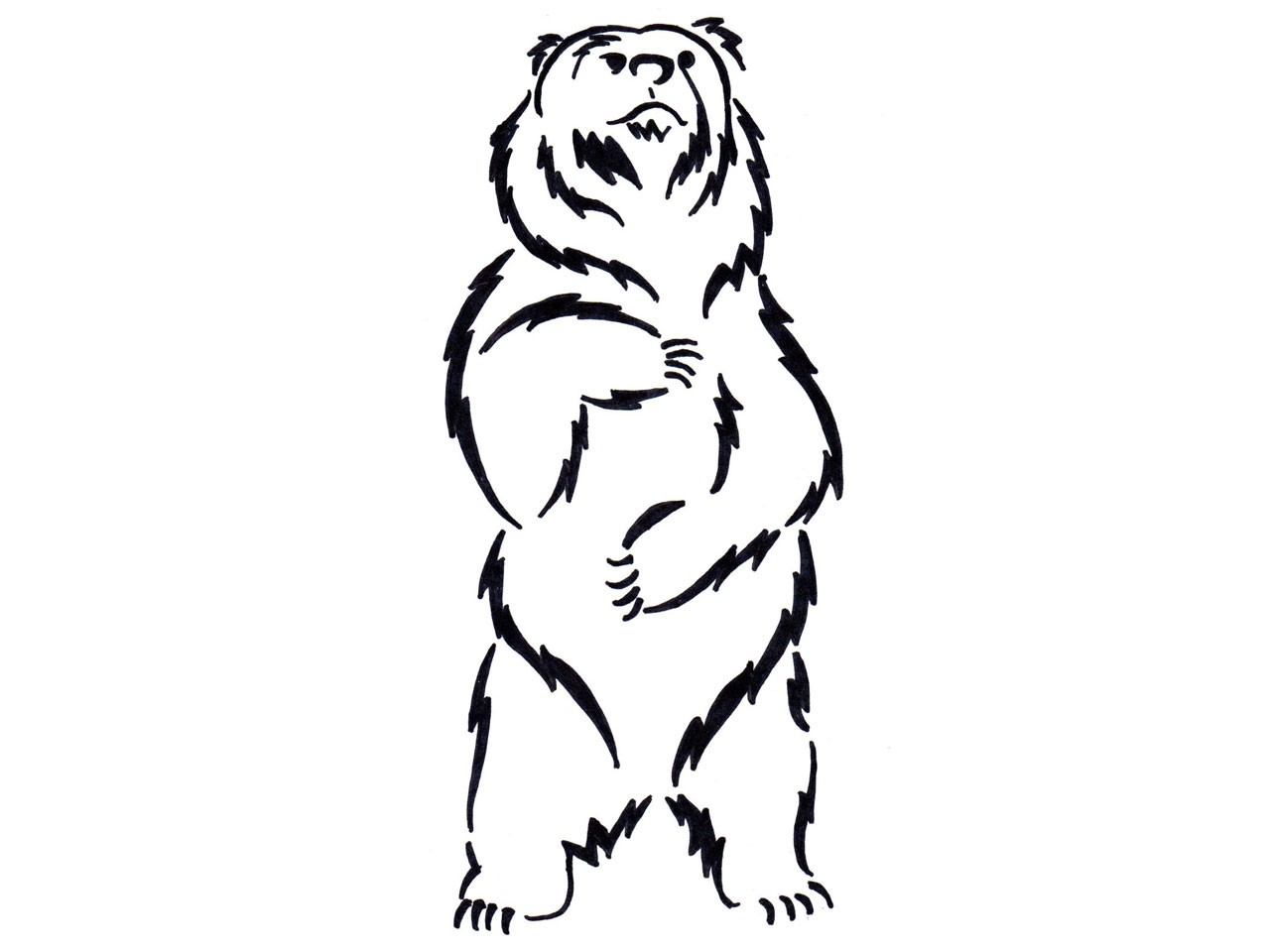 Standing And Growling Bear Clipart - Clipart Suggest