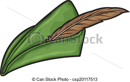 Vector Clip Art Of Robin Hood Hat Csp20117513   Search Clipart