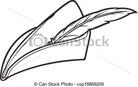 Vector Clipart Of Robin Hood Hat Csp18869209   Search Clip Art