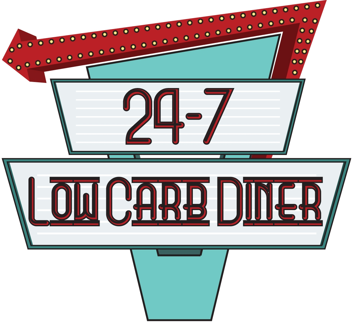 14 Kb Jpeg Clipart Picture Of A Retro Diner Sign Http Www Clipartguide