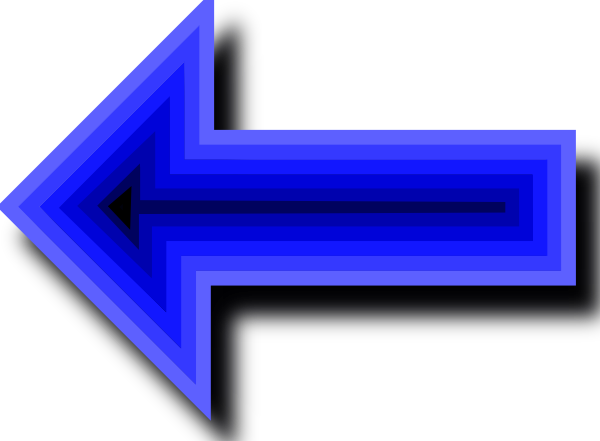 Animated Blue Arrow Clip Art