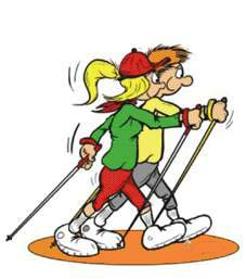 Nordic Walking Clipart - Clipart Kid