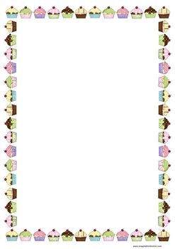 Cupcakes Clipart Border   Clipart Panda   Free Clipart Images