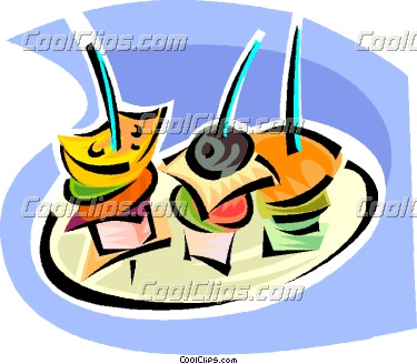 Hors D Oeuvres Vector Clip Art