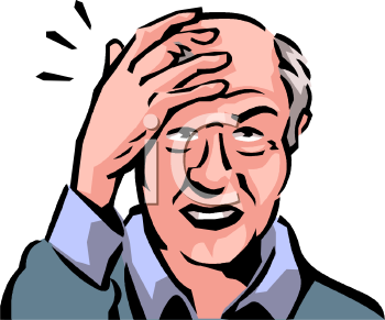Old Man With A Headache Clip Art   Royalty Free Clipart Illustration