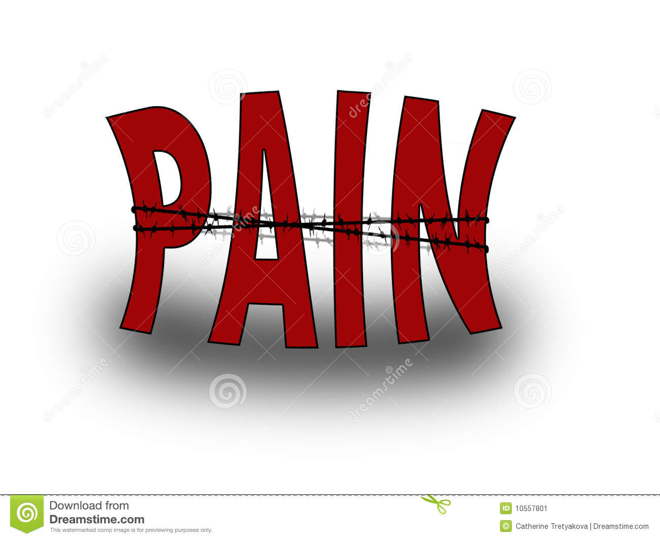 Pain Word Stock Image   Image  10557801
