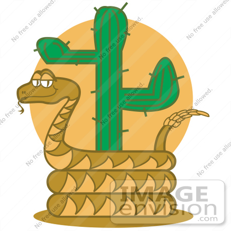 Royalty Free Cartoon Clip Art Of A Rattlesnake Holding Out His Rattle
