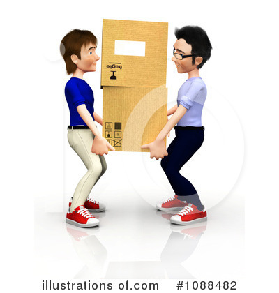 Royalty Free  Rf  Moving Clipart Illustration By Andresr   Stock