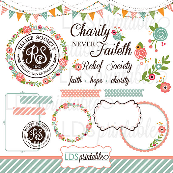 Rsca001   Lds Relief Society Clipart Clip Art Faith Hope Charity