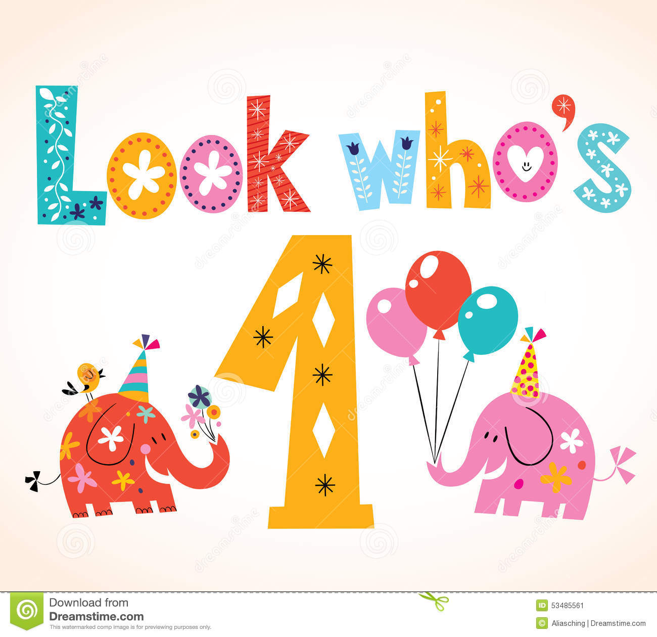 One Year Old Birthday Quotes: Who's On First Clipart
