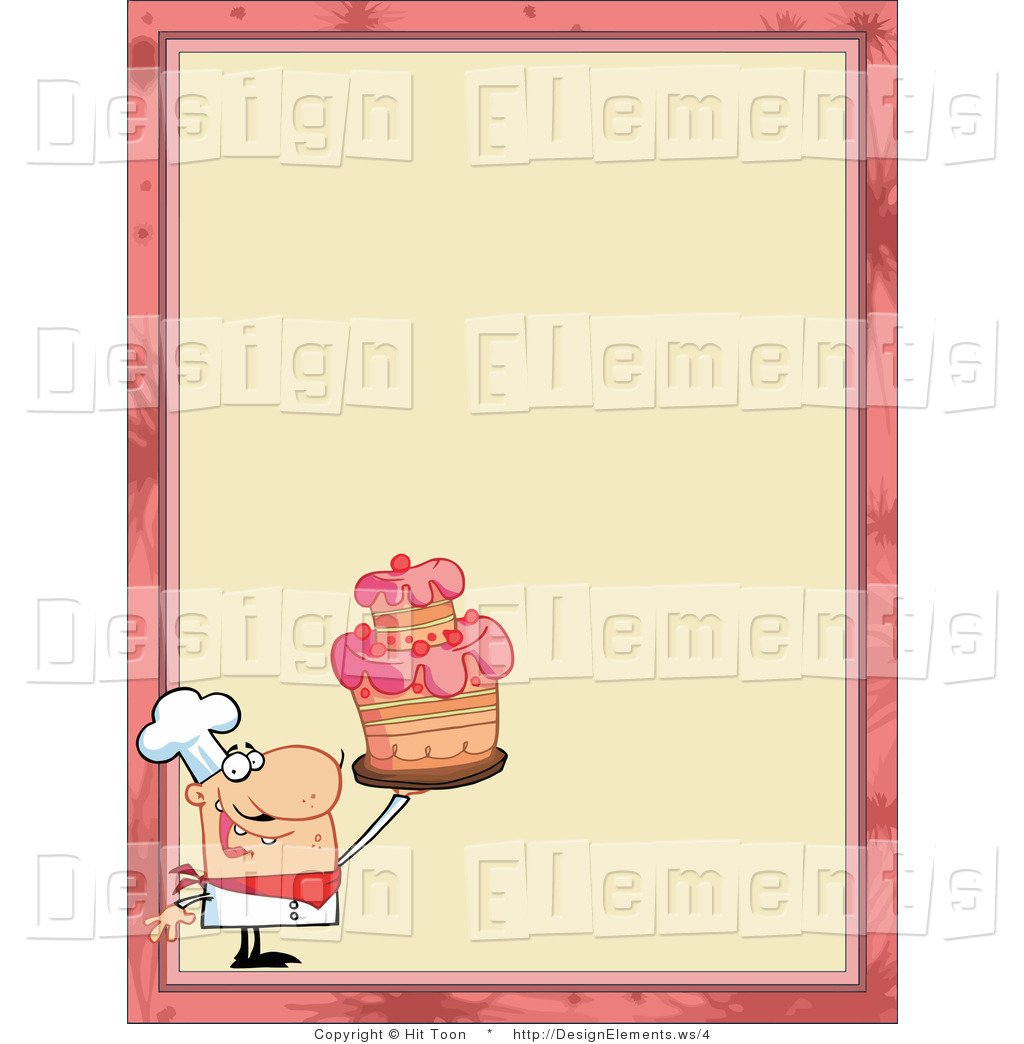 Vector Design Element Clipart Of A Cake Maker Border By Hit Toon    4