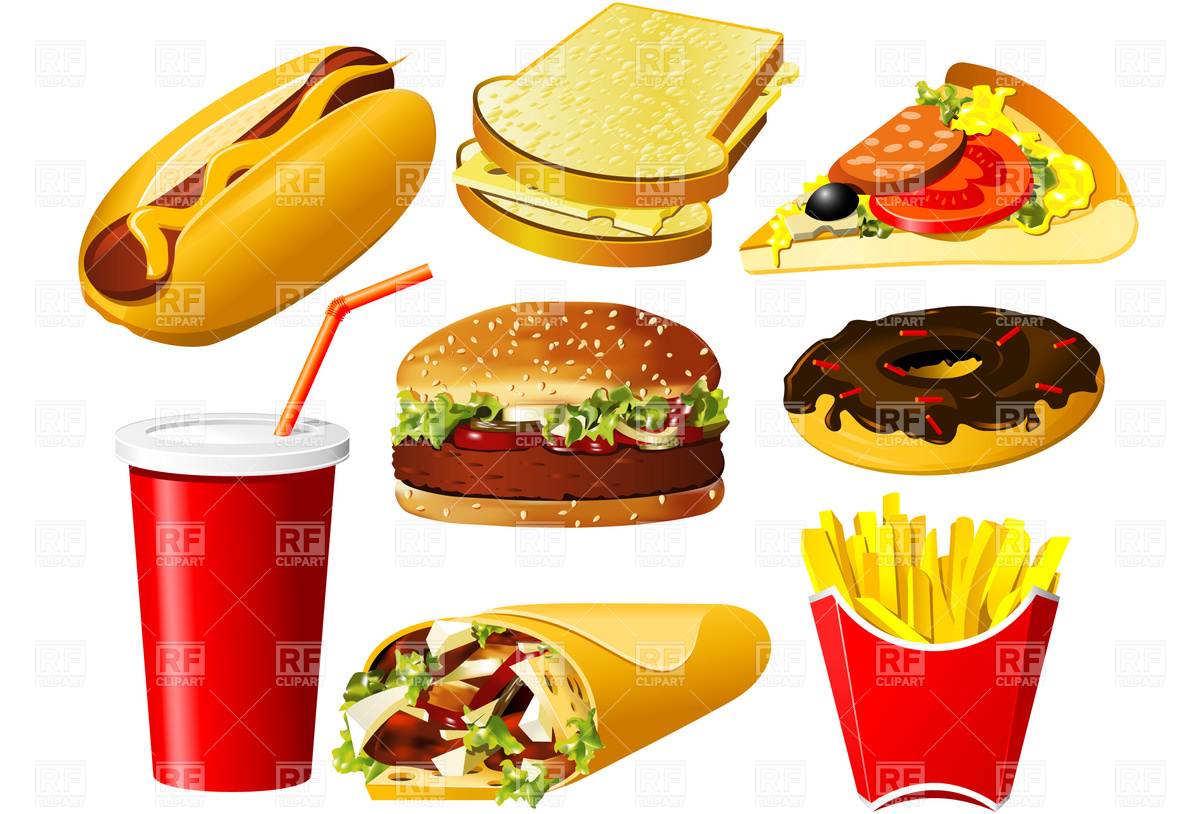Hamburger Soda And Pizza Download Royalty Free Vector Clipart  Eps