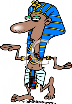 Man Wearing An Egyptian Pharoah Costume   Royalty Free Clipart Picture