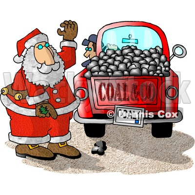 Truck Of Coal Ready For Delivery To Bad Boys And Girls On Christmas