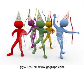 3d Men Dance   Party Time  Clipart Illustrations Gg57975070   Gograph