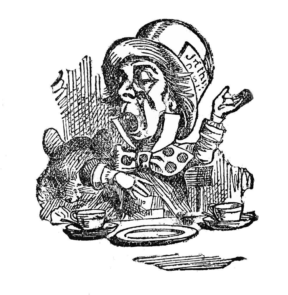 Alice In Wonderland Clip Art   Alice Mad Hatter Cat   The Graphics