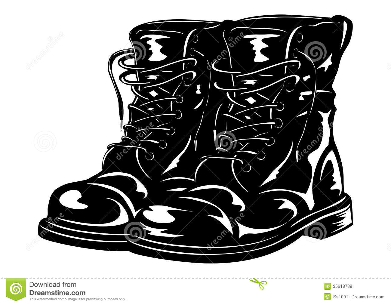 clipart of military boots - photo #12