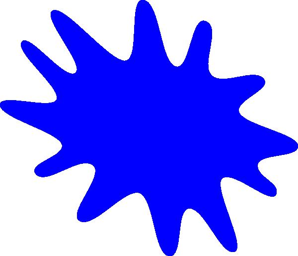 Blue Paint Splat Clip Art At Clker Com   Vector Clip Art Online