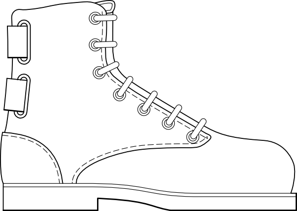 Clip Art Boot Clip Art army boot print clipart kid shoe clothing clip art at clker com vector online
