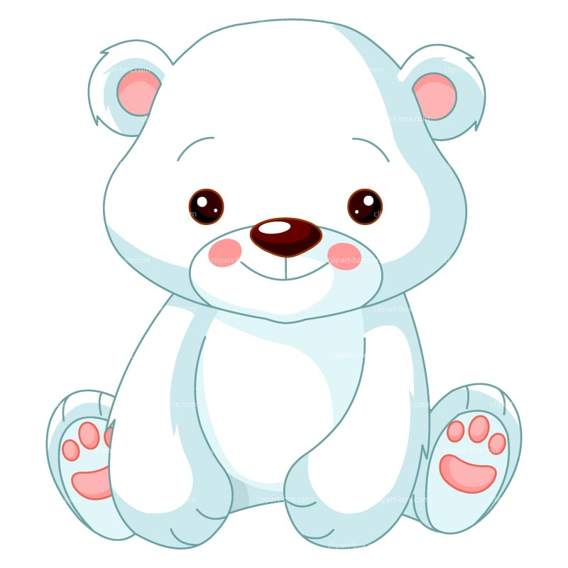 Clipart Baby Polar Bear   Royalty Free Vector Design