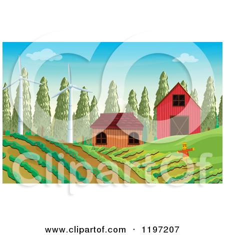 Crop Field Clipart Scarecrow In A Crop Field