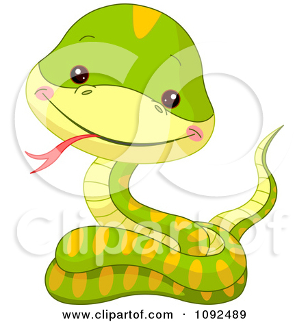 Cute Baby Snake Clipart 1092489 Clipart Cute Baby Zoo Snake Royalty