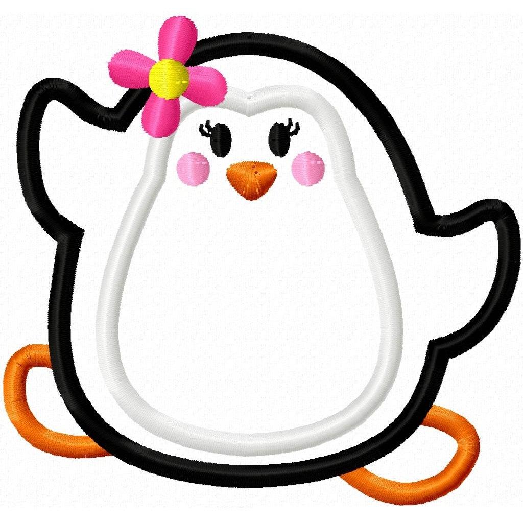 Cute Girly Flower Penguin